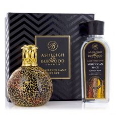 Ashleigh & Burwood Fragrance Lamp Gift Set - Golden Sunset & Moroccan Spice Lamp Oil